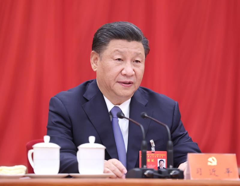 中國共產黨第十九屆中央委員會第五次全體會議,于2020年10月26日至29日在北京舉行。中央委員會總書記習近平作重要講話。新華社記者 鞠鵬 攝
